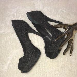 Simply Vera Wang Peep Toe Dress Heels